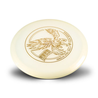 Innova Henna Blomroos Roc3 in white plastic with gold big bird roc stamp.
