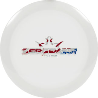 Dynamic Discs Lucid Sergeant in white plastic with flag stamp.