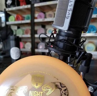 Nate Perkins on the podcast with a Night Strike 2 and the guest microphone.