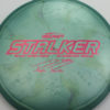 Stalker - Titanium Swirl - Ledgestone - Paige Pierce - pink-hexagons - 175-176g - 176-7g - somewhat-domey - somewhat-stiff
