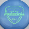 Freedom - blue - fuzion - teal-dots-small - 172g - 173-3g - somewhat-flat - neutral
