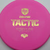 Discmania Tactic - pink - exo-hard - gold - 173g - 173-9g - somewhat-puddle-top - pretty-stiff