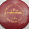 Freedom - redpink - biofuzion - wood-grain - 168g - 169-6g - somewhat-flat - somewhat-stiff