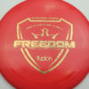 Freedom - redpink - fuzion - gold-stars - 174g - 175-8g - somewhat-flat - somewhat-stiff