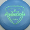 Freedom - blue - fuzion - teal-dots-small - 172g - 173-4g - pretty-flat - somewhat-stiff