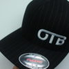 Flexfit Curved Bill Hat - black-pinstripe - black-pinstripe - s-m - white