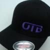 Flexfit Curved Bill Hat - black - black - s-m - purple