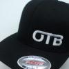 Flexfit Curved Bill Hat - black - black - s-m - white