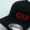 Flexfit Curved Bill Hat - black - black - s-m - red