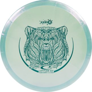The Latitude 64 JohnE McCray Glimmer Opto-X Fuse in gorgeous teal plastic.