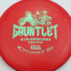 Gauntlet - red - zero-scented - teal-mini-dots - 175g - 174-2g - pretty-flat - somewhat-gummy