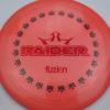 BioFuzion Raider - pinkorange - black - red-fracture - 174g - 175-6g - somewhat-domey - somewhat-stiff