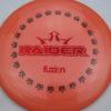 BioFuzion Raider - pinkorange - black - red-fracture - 174g - 175-9g - somewhat-domey - somewhat-stiff