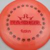 BioFuzion Raider - pinkorange - black - red-fracture - 174g - 175-9g - neutral - somewhat-stiff