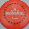 BioFuzion Raider - pinkorange - black - white - 174g - 175-7g - somewhat-domey - somewhat-stiff