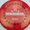 BioFuzion Raider - redpink - black - white - 175g - 176-7g - somewhat-domey - somewhat-stiff