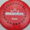 BioFuzion Raider - red - black - silver-fracture - 173g - 174-5g - somewhat-flat - somewhat-stiff