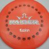 BioFuzion Raider - pinkorange - black - silver-fracture - 174g - 175-8g - somewhat-domey - somewhat-stiff