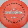 BioFuzion Raider - pinkorange - black - silver-fracture - 174g - 176-0g - somewhat-domey - somewhat-stiff