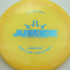 Justice - yelloworange - lucid - blue - 304 - 174g - 175-6g - somewhat-flat - neutral