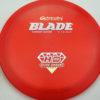 Blade - red - hyper-diamond - silver-holographic - 174g - 174-4g - pretty-flat - somewhat-stiff