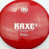 Kaxe Z - red - k1 - silver-fracture-w-dots - 174g - 175-5g - somewhat-domey - neutral