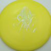 OctoBerg Wraith - yellow - silver-squares - 173-175g-2 - 174-2g - somewhat-domey - somewhat-stiff