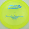 Roadrunner - yellowgreen - champion - blue - 304 - 168g - 169-4g - somewhat-domey - somewhat-stiff