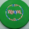 Ringer - green - d-line - flag - 173-175g - 174-0g - super-flat - somewhat-stiff
