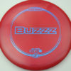 Buzzz - dark-red - z-line - blue-mini-dots-and-stars - 304 - 177g-2 - 179-6g - pretty-flat - somewhat-stiff