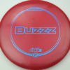 Buzzz - dark-red - z-line - blue-mini-dots-and-stars - 304 - 177g-2 - 179-7g - pretty-flat - somewhat-stiff
