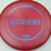 Buzzz - dark-red - z-line - blue-mini-dots-and-stars - 304 - 177g-2 - 180-0g - pretty-flat - somewhat-stiff