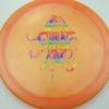 OctoBerg Firebird - orange - luster-champion - rainbow - 175g - 174-2g - somewhat-flat - somewhat-stiff